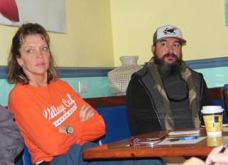 Kay Kouvatsos and Wendall Jacobsen listen to the SKVA discussion. Rachel Hackney photo