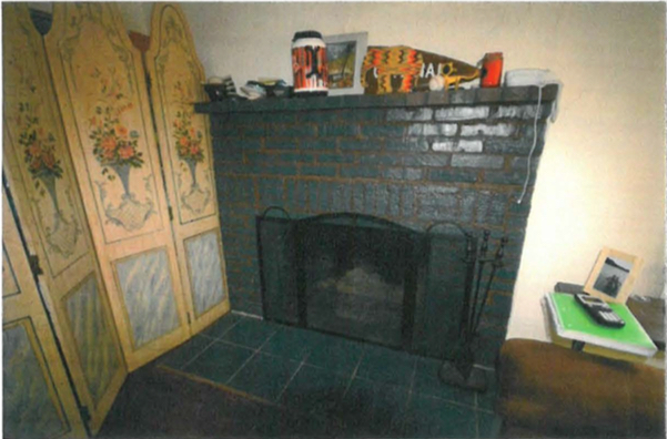 A photo among the city material shows a fireplace in the house. Image courtesy City of Sarasota