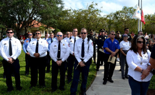 Sarasota County first responders attend a 9/11 ceremony in Venice. File photo