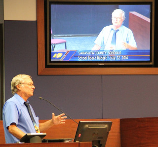 Al Weidner addresses the School Board in 2014. File photo