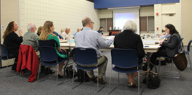 Continuum of Care members gather for the Feb. 24 meeting at New College. Rachel Hackney photo