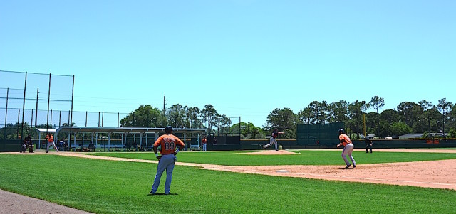 The Orioles will be working out on the backfields starting Feb. 19. File photo