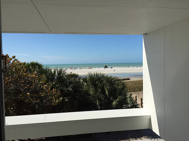 Another view from the Public Safety Building shows the beach. Contributed photo by Jason Bartolone, Sarasota County