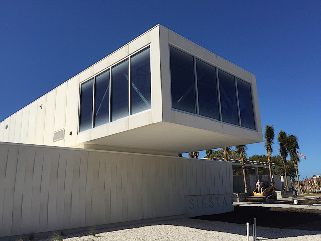 The Public Safety Building is on the west end of the beach park. Contributed photo by Jason Bartolone, Sarasota County