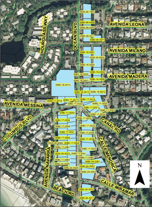 A 2014 county graphic shows all the PID parcels at that time. Image courtesy Sarasota County