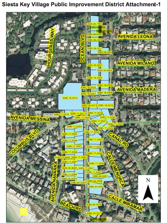 This is the most recent graphic showing the PID parcels. Image courtesy Sarasota County