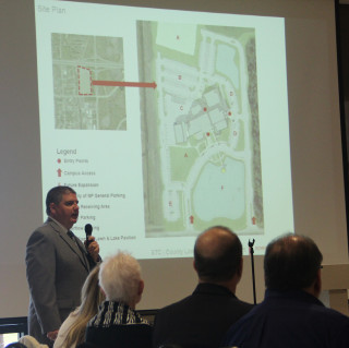 Todd Bowden discusses the North Port project during the Jan. 15 Convocation of Governments. Rachel Hackney photo