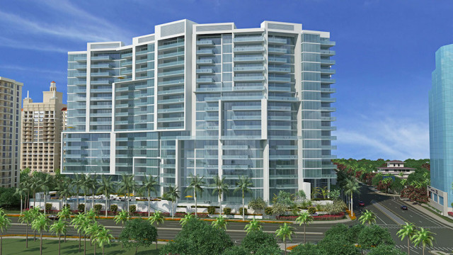 The Vue Sarasota Bay , which is under construction, is at the intersection of Gulfstream Avenue and U.S. 41. Image from the project website