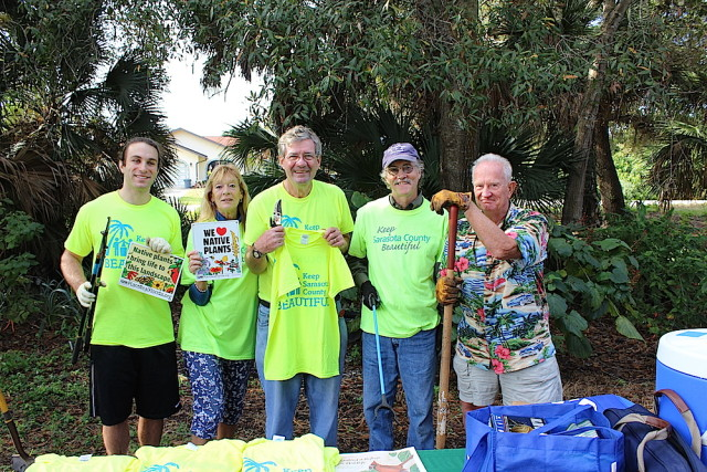 South Venice Civic Association (SVCA) Water Quality Task Force volunteers participating in the Jan. 9 workday were (from left) Skylar Chelton, Ilona Wilson, Harrison Fox, Stephen Brown and Parker McComas. Contributed photo