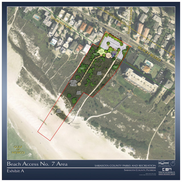 A county graphic in 2012 showed plans for improving Beach Access 7. Image courtesy Sarasota County