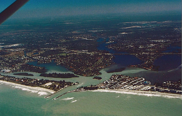 A 2007 photo shows Dona Bay at the Venice Jetty. Image courtesy Sarasota County