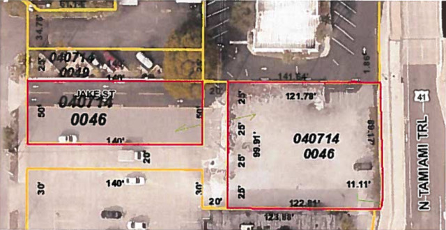 Documents provided to the County Commission showed the areas to be leased. Image courtesy Sarasota County