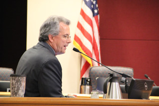 Coastal Initiatives Manager addresses the Sarasota County Commission. File photo