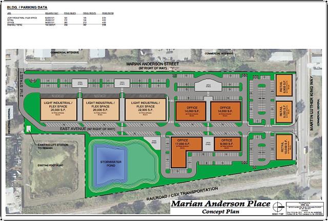 Another graphic shows potential for Marian Anderson Place. Image courtesy City of Sarasota