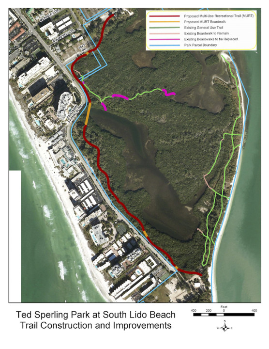 A graphic shows details of the proposed improvements. Image courtesy Sarasota County