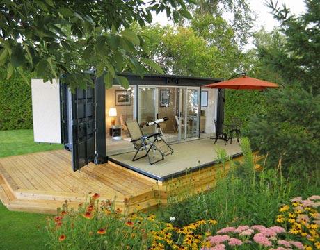 The Popular Mechanics website shows a container transformed into a home. Image from popular mechanics.com
