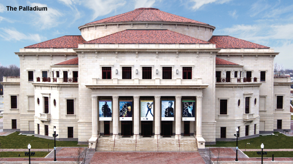 The Palladium is the focal point of the Carmel, Ind,, complex. Image from the Center for the Performing Arts website