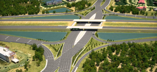 The diverging diamond interchange is expected to be completed in the fall. Image courtesy FDOT