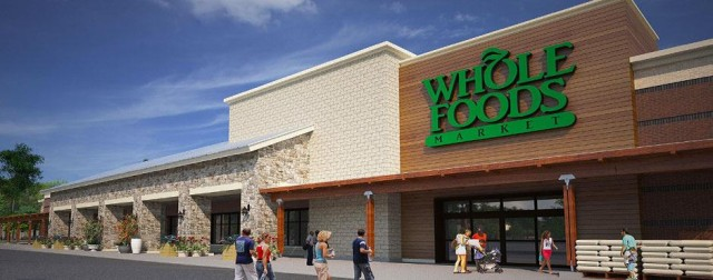 S.J. Collins Enterprises developed this Whole Foods complex in Newport News, VA, on a former wetlands site, a representative of the firm told the Sarasota County Planning Commission. Image from the S.J. Collins Enterprises website