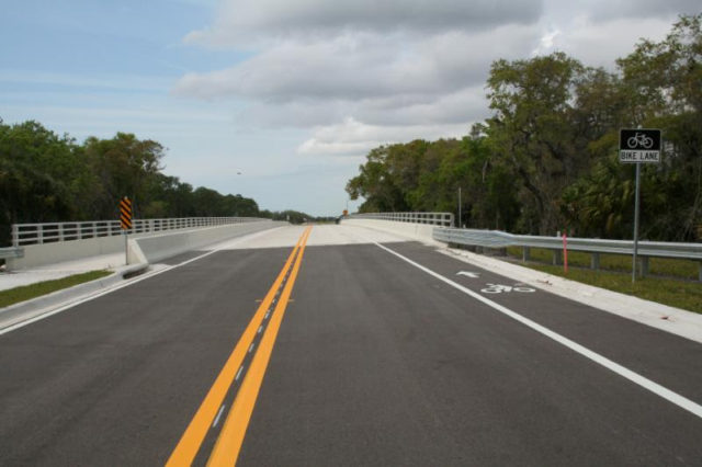 A street view shows the Honore Avenue extension. Photo courtesy Sarasota County