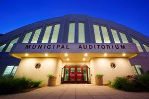 The Municipal Auditorium is located near downtown Sarasota, just off Tamiami Trail. Photo courtesy City of Sarasota