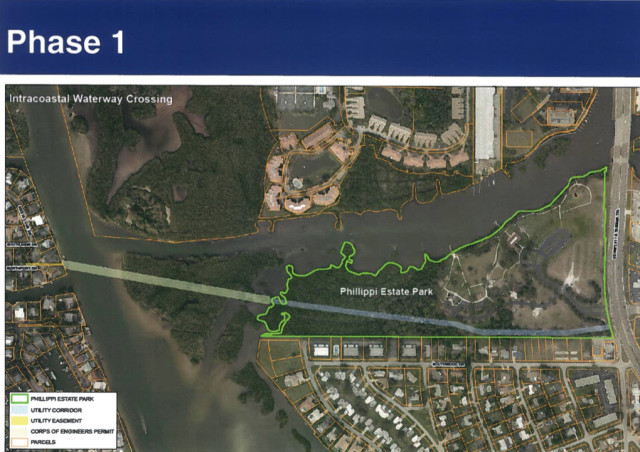 A county graphic shows details of Phase 1 of the project. Image courtesy Sarasota Coun