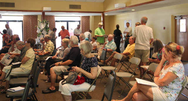 The Parish Hall of St. Boniface Episcopal Church was the setting for the meeting. Rachel Hackney photo