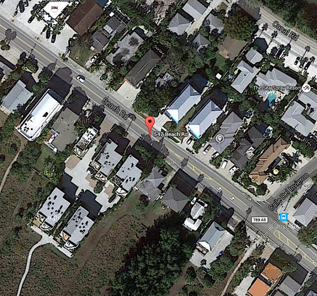 An SKA member says renters of two multi-story houses in this area of Beach Road often leave garbage at the curbside on the weekends. Image from Google Maps