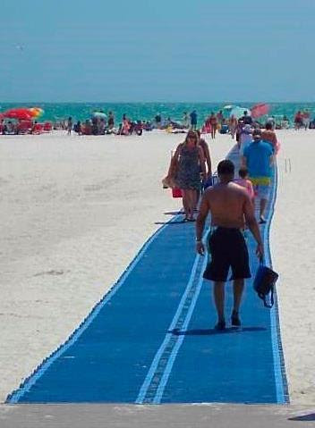 The new Mobi-Mat is in place at Siesta Public Beach. Image courtesy Sarasota County