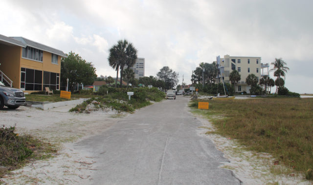 This is the view looking south from the segment of North Beach Road. Rachel Hackney photo