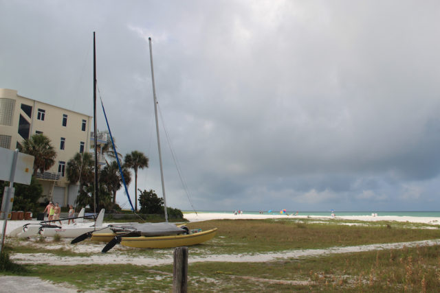 Catamarans rest upland of the Gulf of Mexico, near the southern end of the North Beach Road section. Rachel Hackney photo