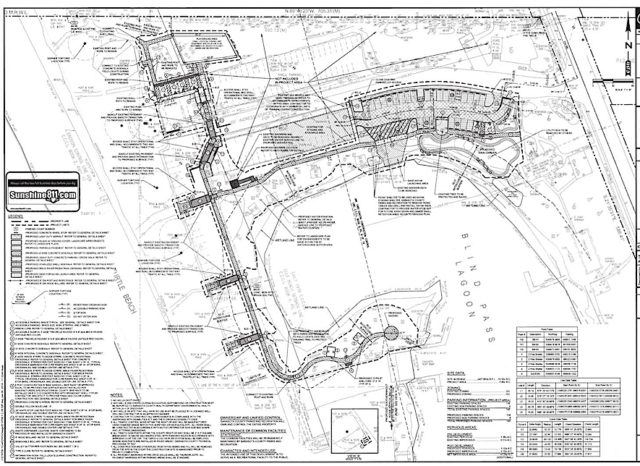 An engineering drawing shows the plans for Turtle Beach Park's improvements. Image courtesy Sarasota County