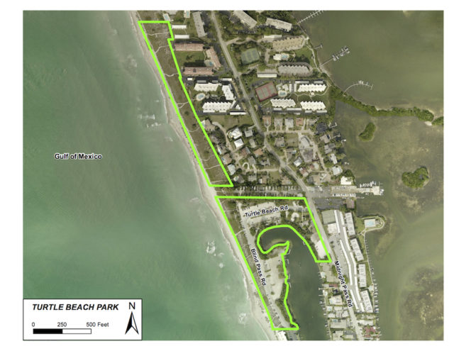 A graphic shows the area where construction will take place. Image courtesy Sarasota County