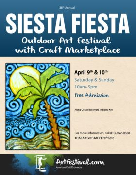 Howard Alan used this poster to advertise the 2016 Siesta Fiesta. Image from the firm's website