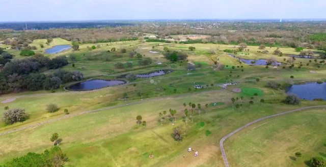 An aerial view is provided in a YouTube video about the course on its website. Image courtesy City of Sarasota
