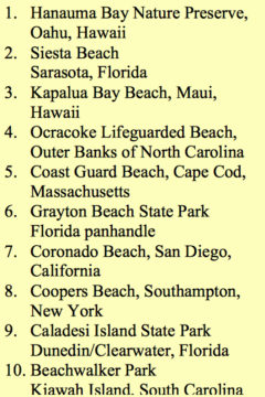 Dr. Beach issued this list for 2016. Image from Dr. Beach's website