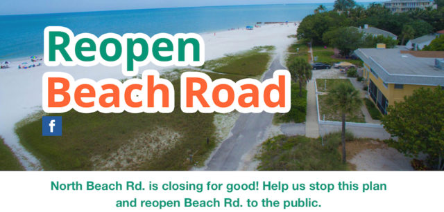 The homepage of the Reopen Beach Road website features a view of the abandoned segment. Image from the website