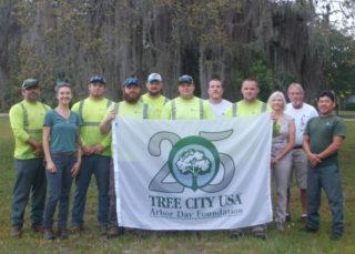 County staff members celebrate the award. Photo courtesy Sarasota County