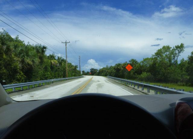 Storm clouds loom on the drive toward Miami on U.S. 41. Photo by Fran Palmeri
