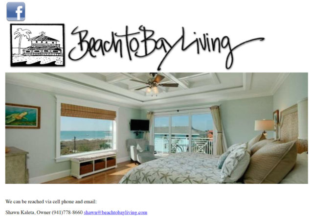 Shawn Kaleta is one of the principals with Beach to Bay Living. Image from the firm's website