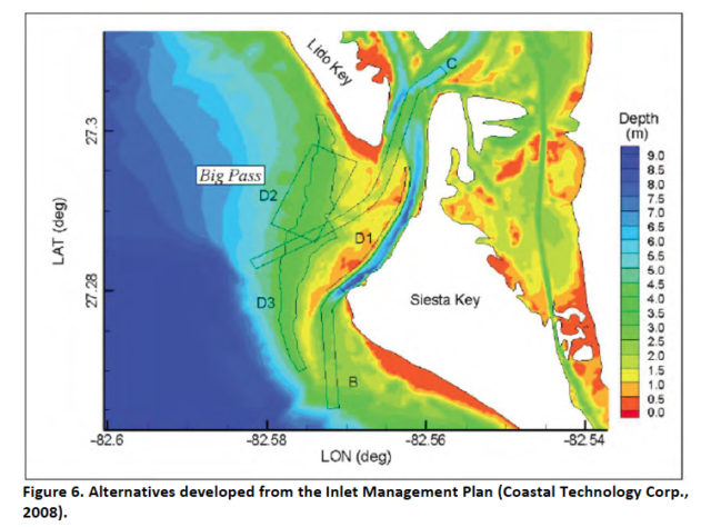 A graphic in the Environmental Assessment shows the project area. Image courtesy FDEP