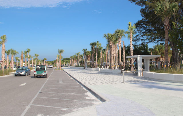 The improvements completed this year at Siesta Public Beach included changes in parking access and the addition of spaces. Rachel Hackney photo