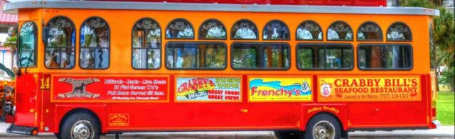 The City of Clearwater has a Jolly Trolley. Image from the service's website