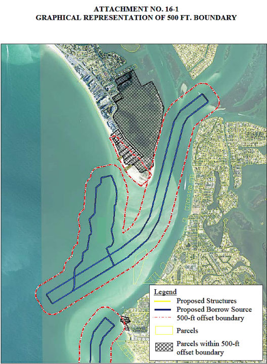 A graphic in the USACE's submission of additional information to FDEP in late August showed the project area. Image courtesy FDEP