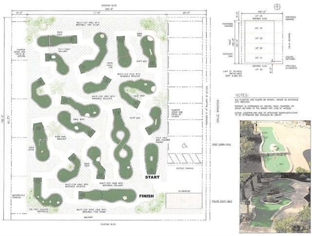A diagram provided to county staff shows how the golf course could fit on the parcel. Image courtesy Sarasota County