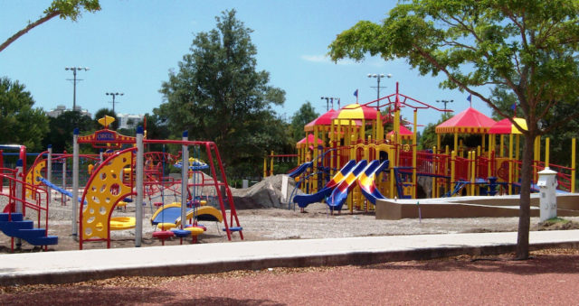 The circus-themed playground within Payne Park is very popular with families, City of Sarasota staff says. File photo