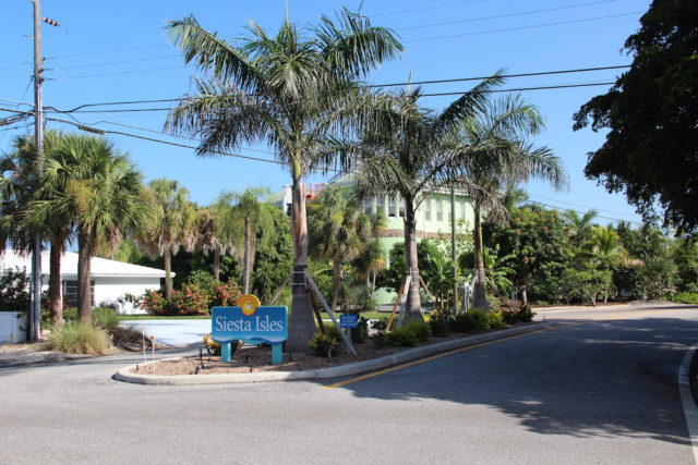 The Siesta Isles Association won neighborhood grants to update the look of its entrances on Siesta Key. Rachel Hackney photo