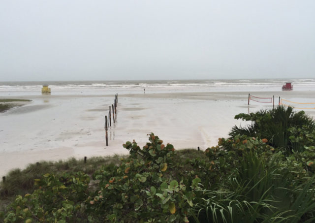 Sarasota County staff posted this photo of Siesta Beach on Sept. 2, during Hermine's passage through the Gulf of Mexico. Image courtesy Sarasota County Government