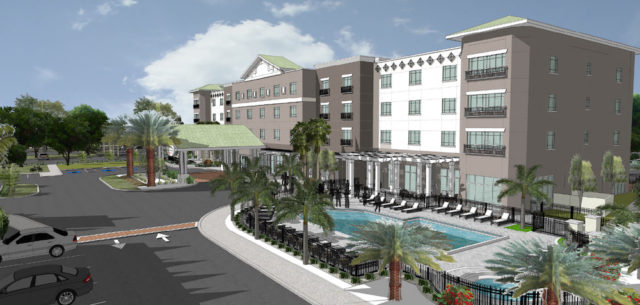 A second rendering shows another view of the property. Image courtesy Dutchman Hospitality Group
