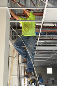 Interior work was completed in the Hamilton Building in late August. Photo courtesy Sarasota County